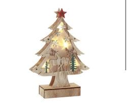 LED-gran i trä