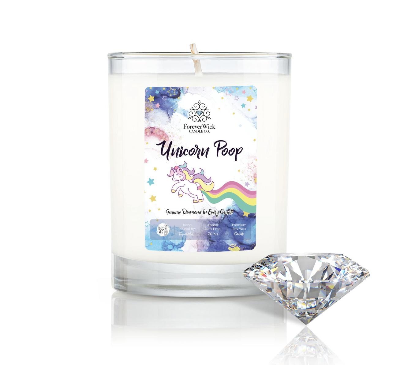 Unicorn Poop - Diamond Candle