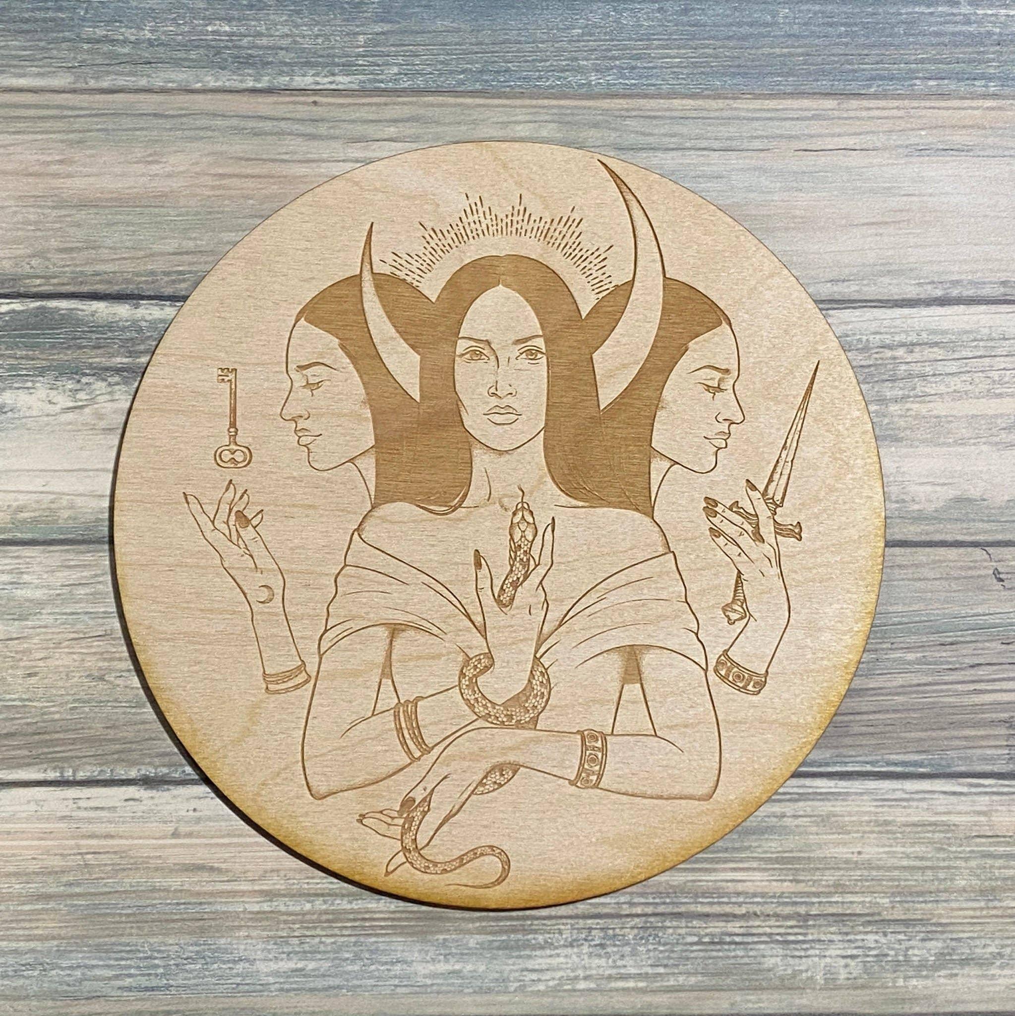Triple Goddess Crystal Grid - Hekate