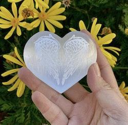 Selenit hjärta - Änglavingar