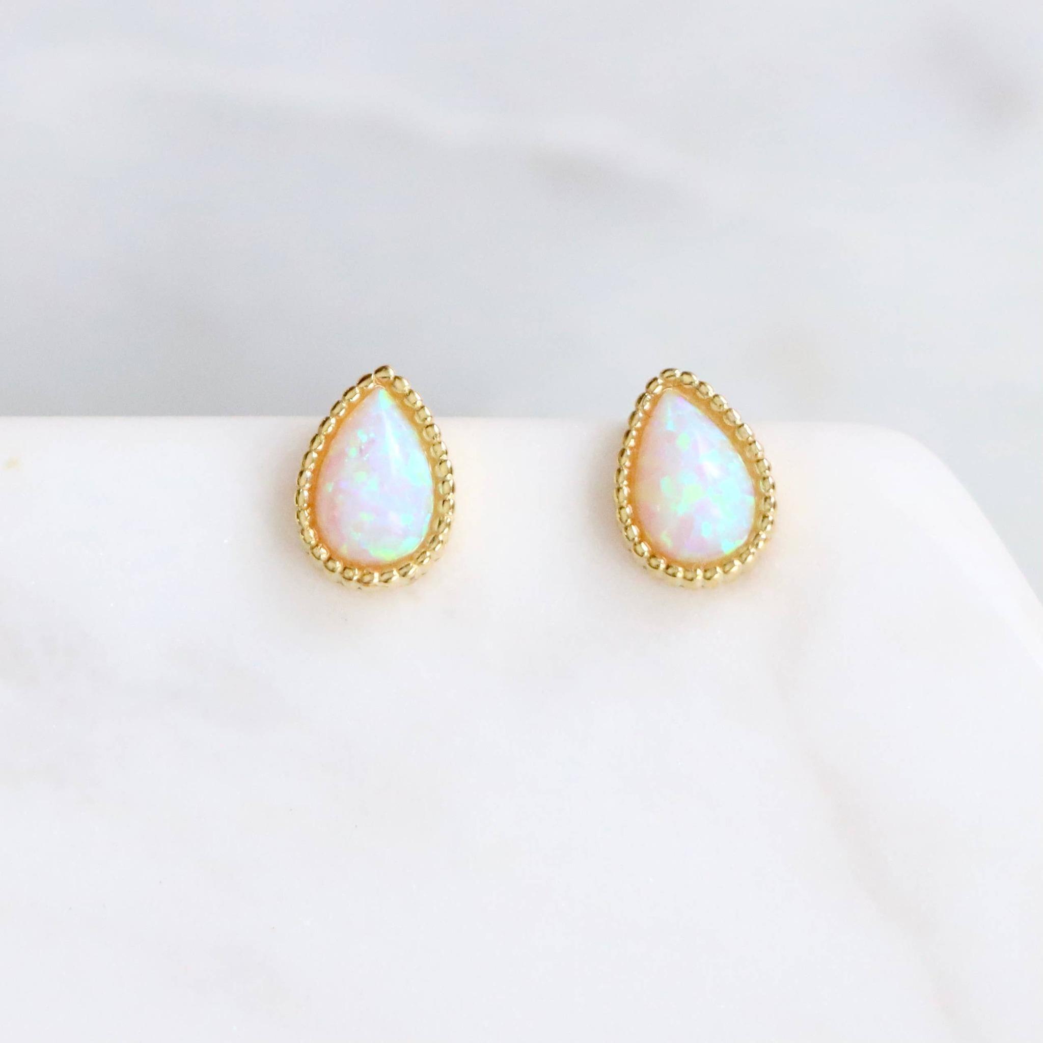 Opal droppe - Örhängen