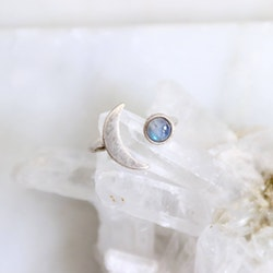Labradorit Crescent Moon - Ring