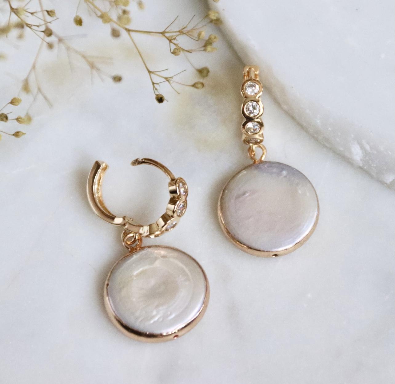 Pearl Coin Örhängen