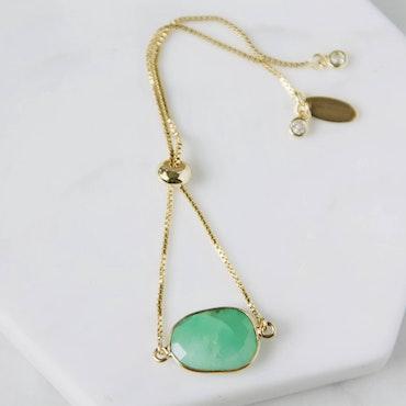 Afrikansk Jade - Justerbar Armband