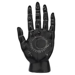 Svart och Vit Mantrisk Hand Stor
