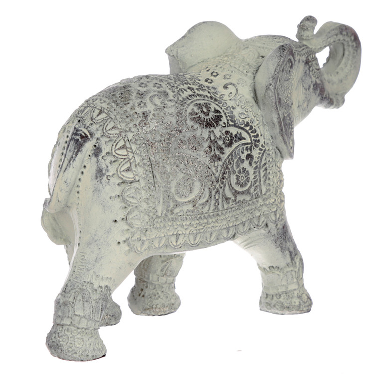 Borstad Vit Thai Elefant
