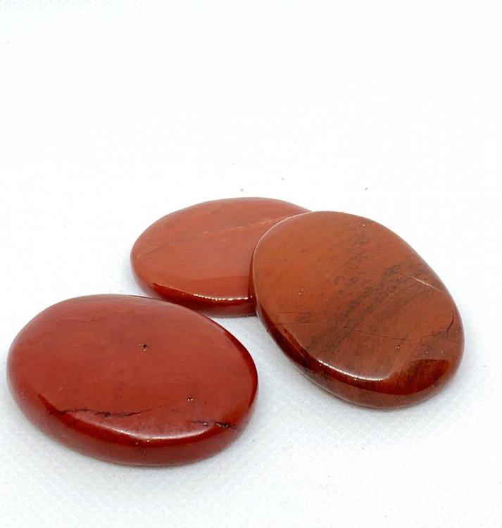 No Worry sten/Handsten  Röd Jaspis 30-40 mm