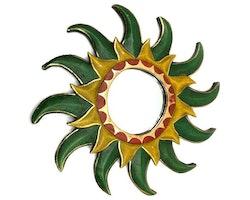 Spegel Grön Sol 40 cm
