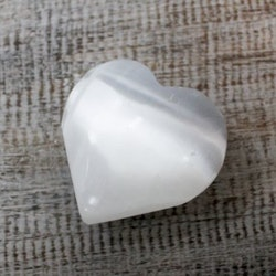 Selenit Hjärta 5-6 cm.