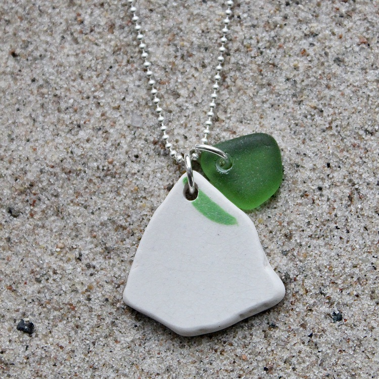 Perfect Match Green Whisk halsband