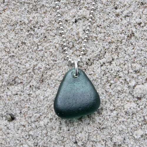 Turquoise Thick & Thin halsband