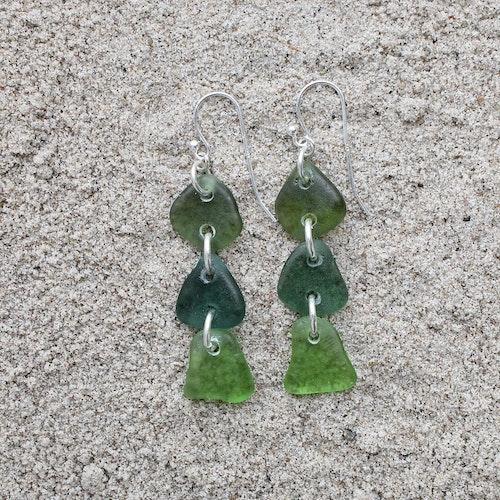 Shades Of Green trippelörhängen