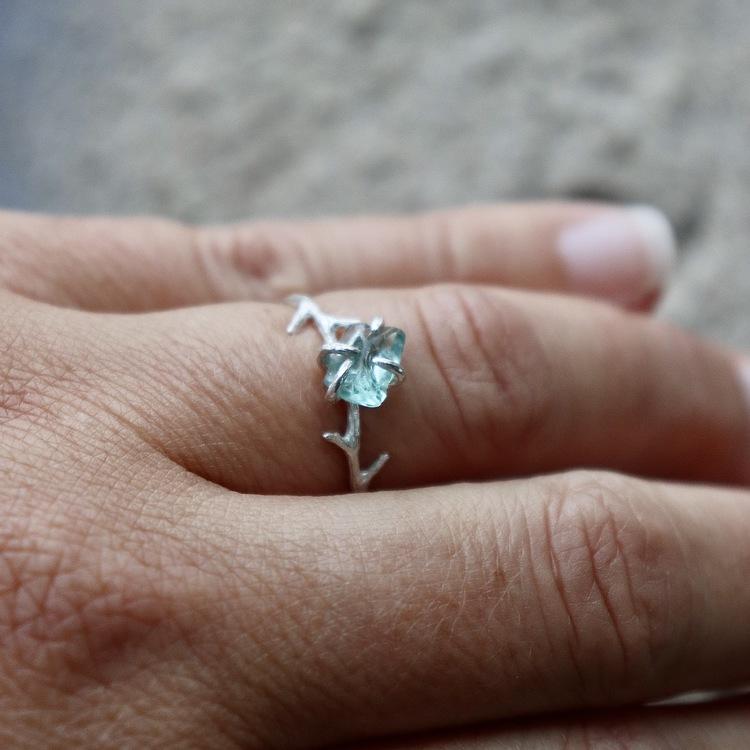 Sea Of Sparkling Joy ring