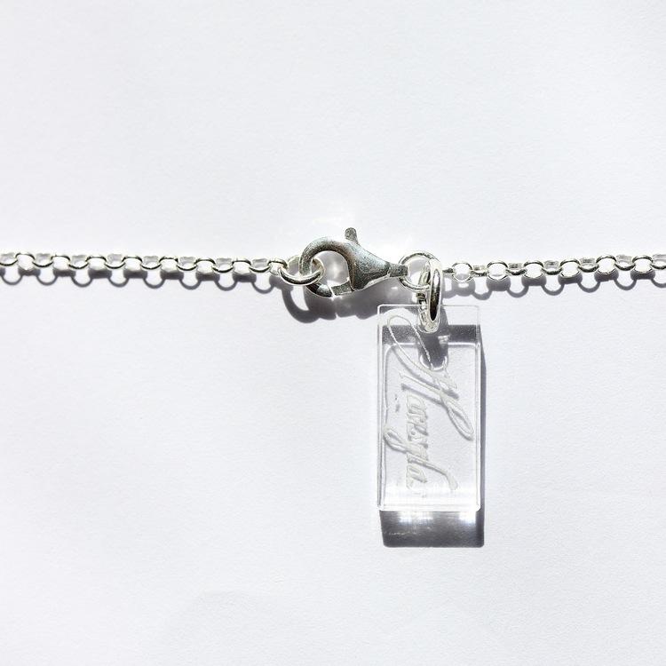 Striped Amber halsband