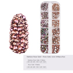 Crystals Rose gold / Pink Multicolor