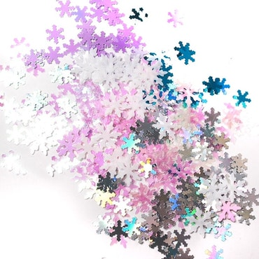 Snöflingor i olika färger