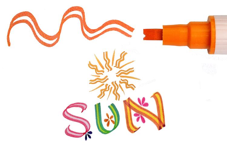 Zig Scroll & Brush tuschpennor 6-p röd orange