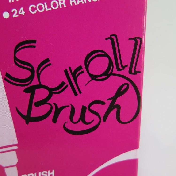 Zig Scroll & Brush tuschpennor 6-p blågrön