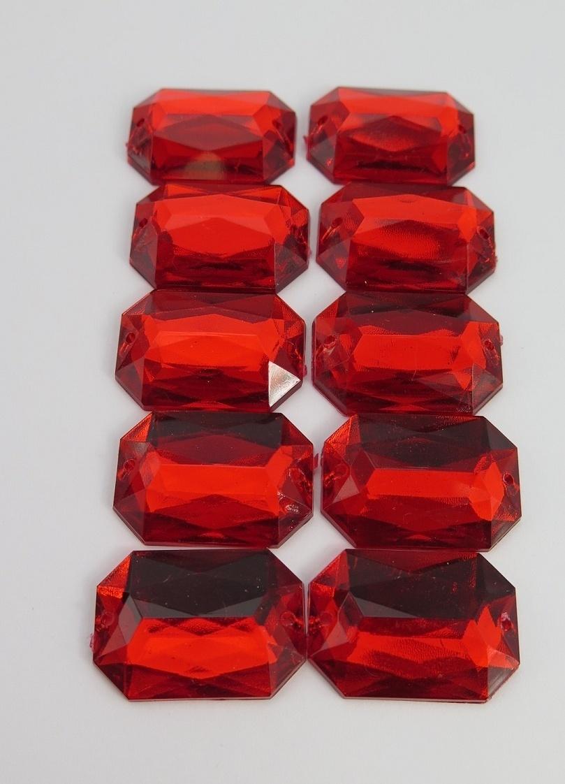 Röd akrylsten