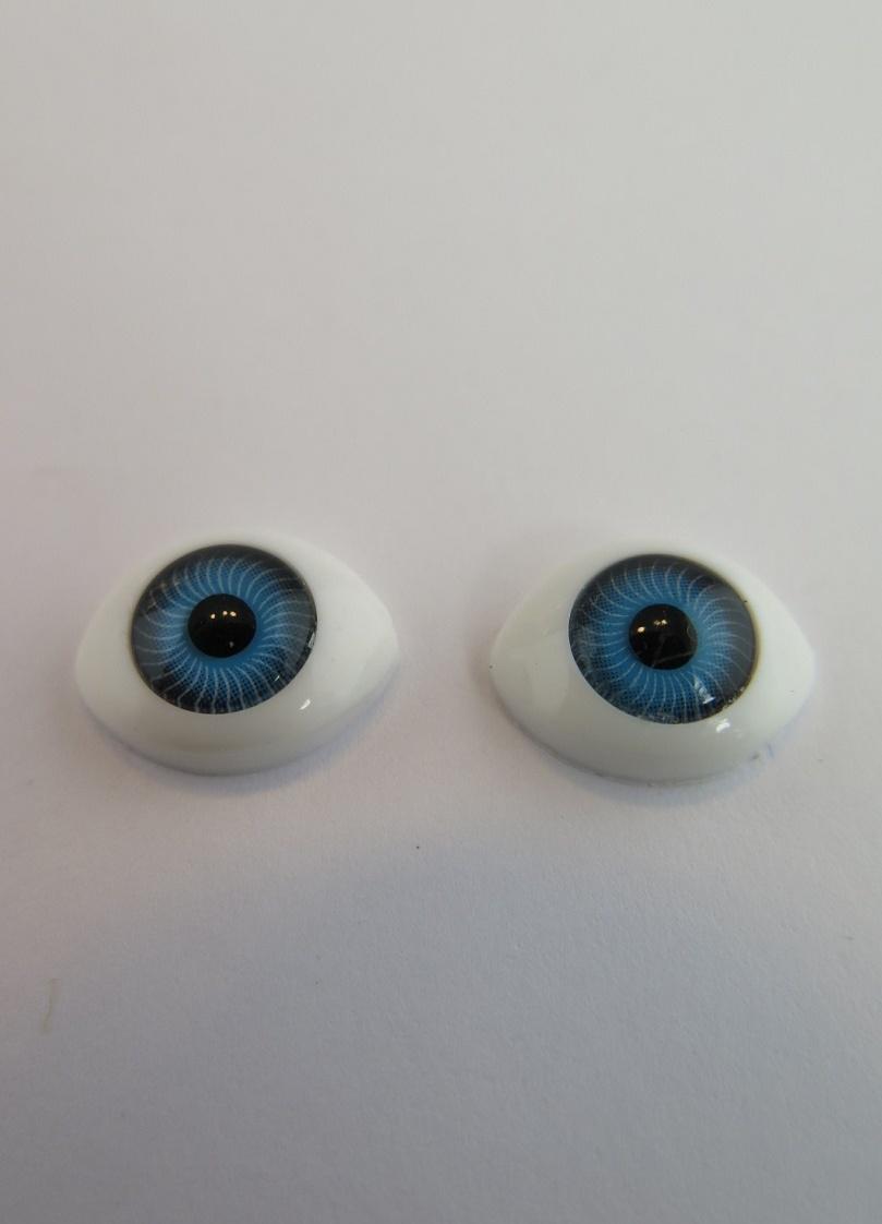 Dockögon blå 9mm