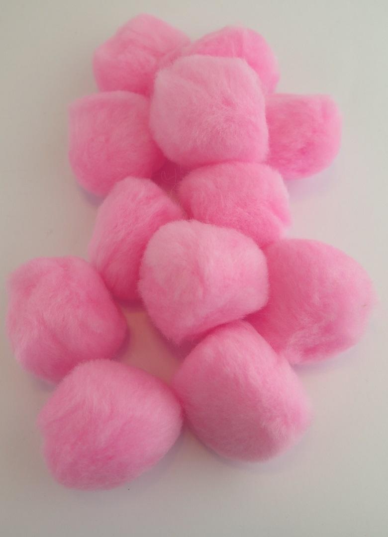 PomPoms rosa 40mm