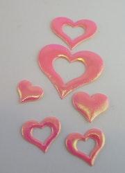 Glansiga hjärtan