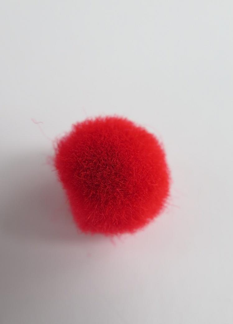 PomPoms röda 10mm