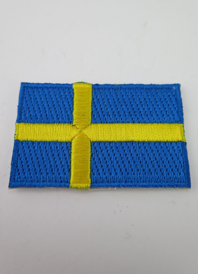 Sverige flagga broderad