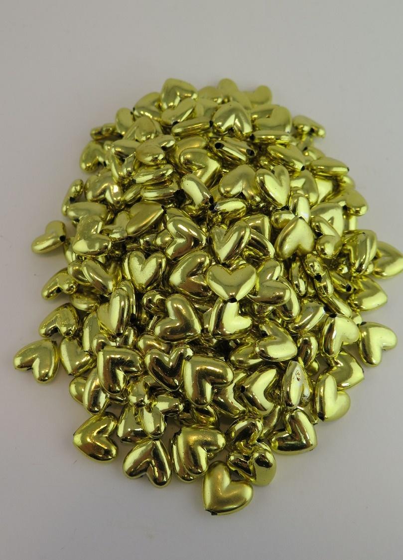Guld hjärtpärlor