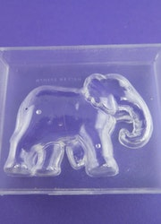 Gips/tvålform elefant