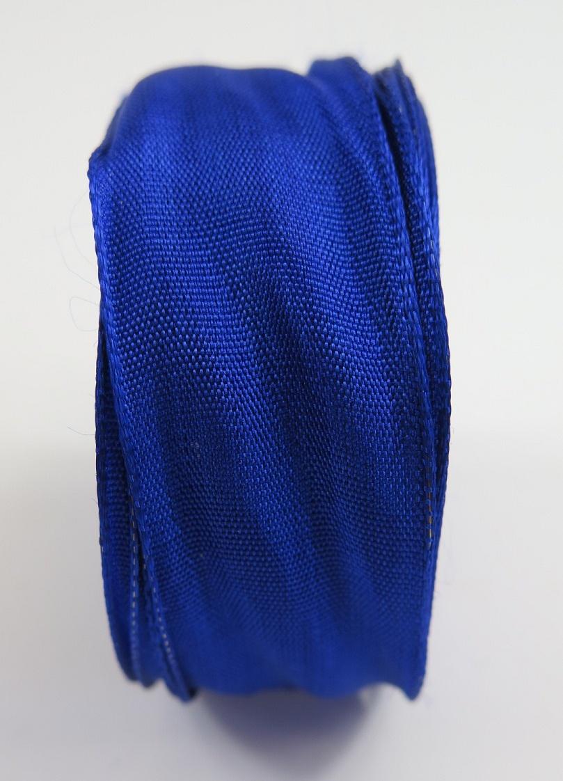Sidenband med ståltrådskant blå
