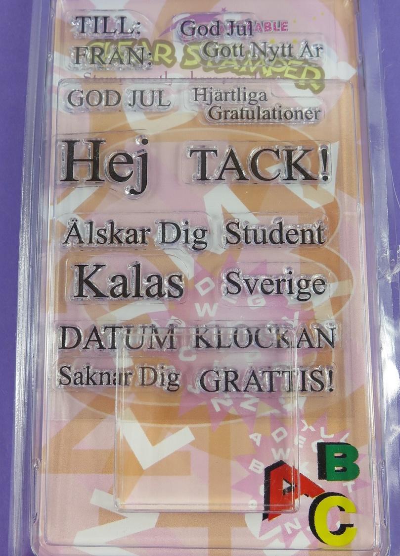 Stämplar med svenska ord