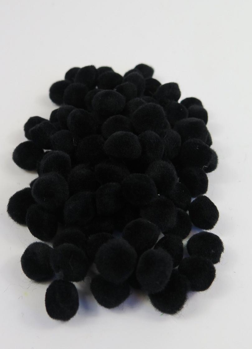 PomPoms svarta 10mm