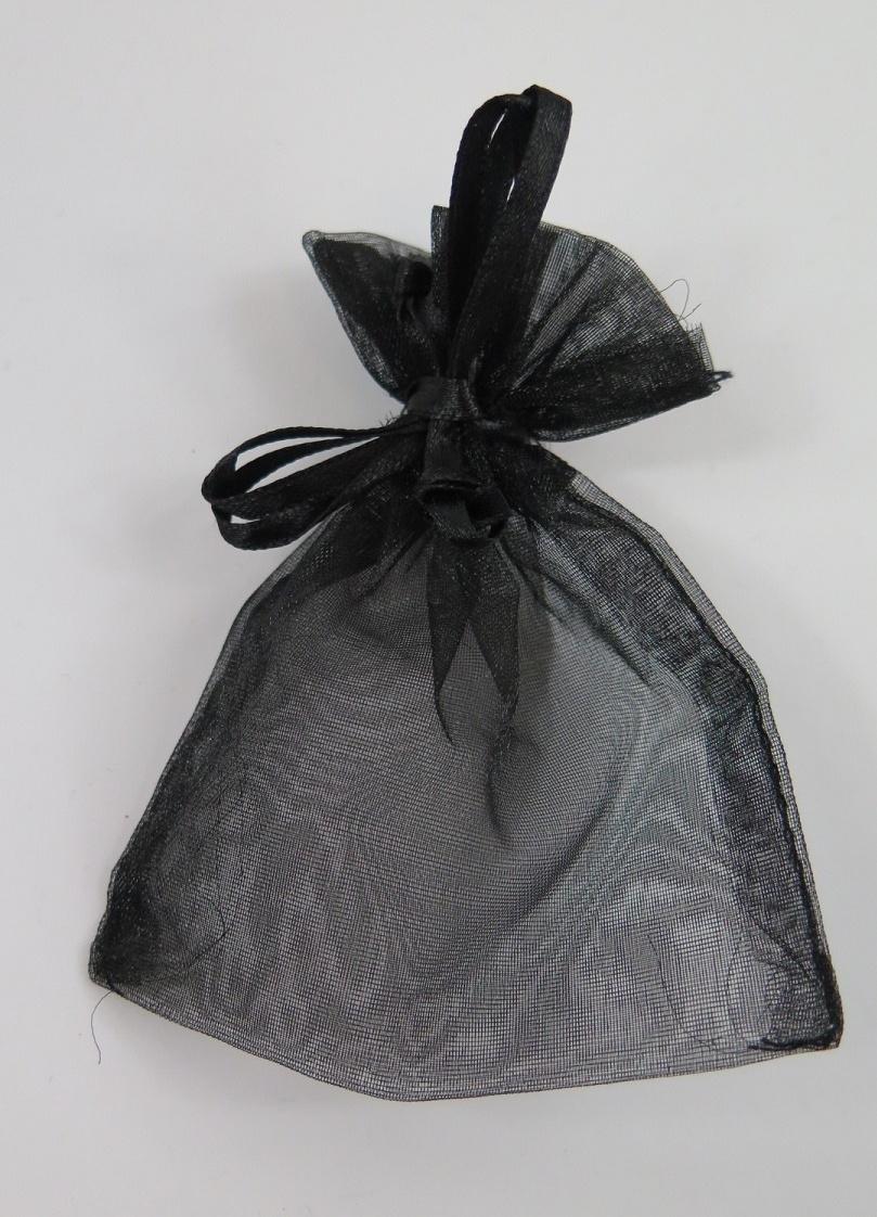 Organza / smycke påsar svart