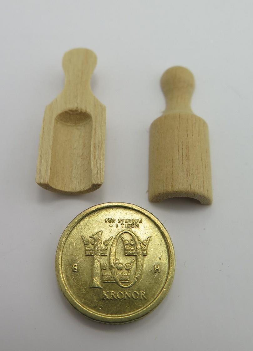 **Miniatyr** Trä skopor