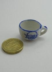 **Miniatyr** Potta blå