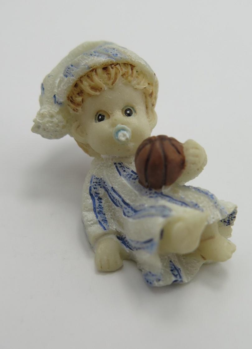 **Miniatyr** Sittande baby blå