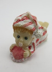 **Miniatyr** Liggande baby rosa