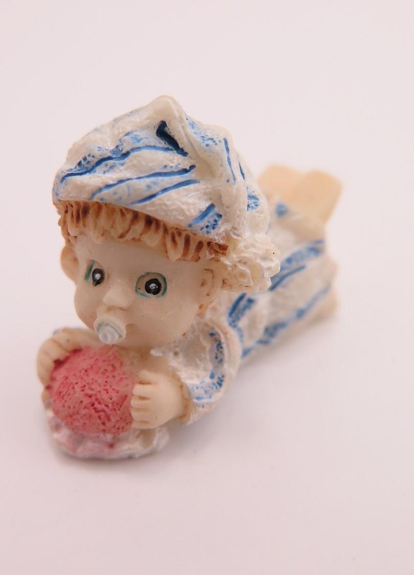 **Miniatyr** Liggande baby blå