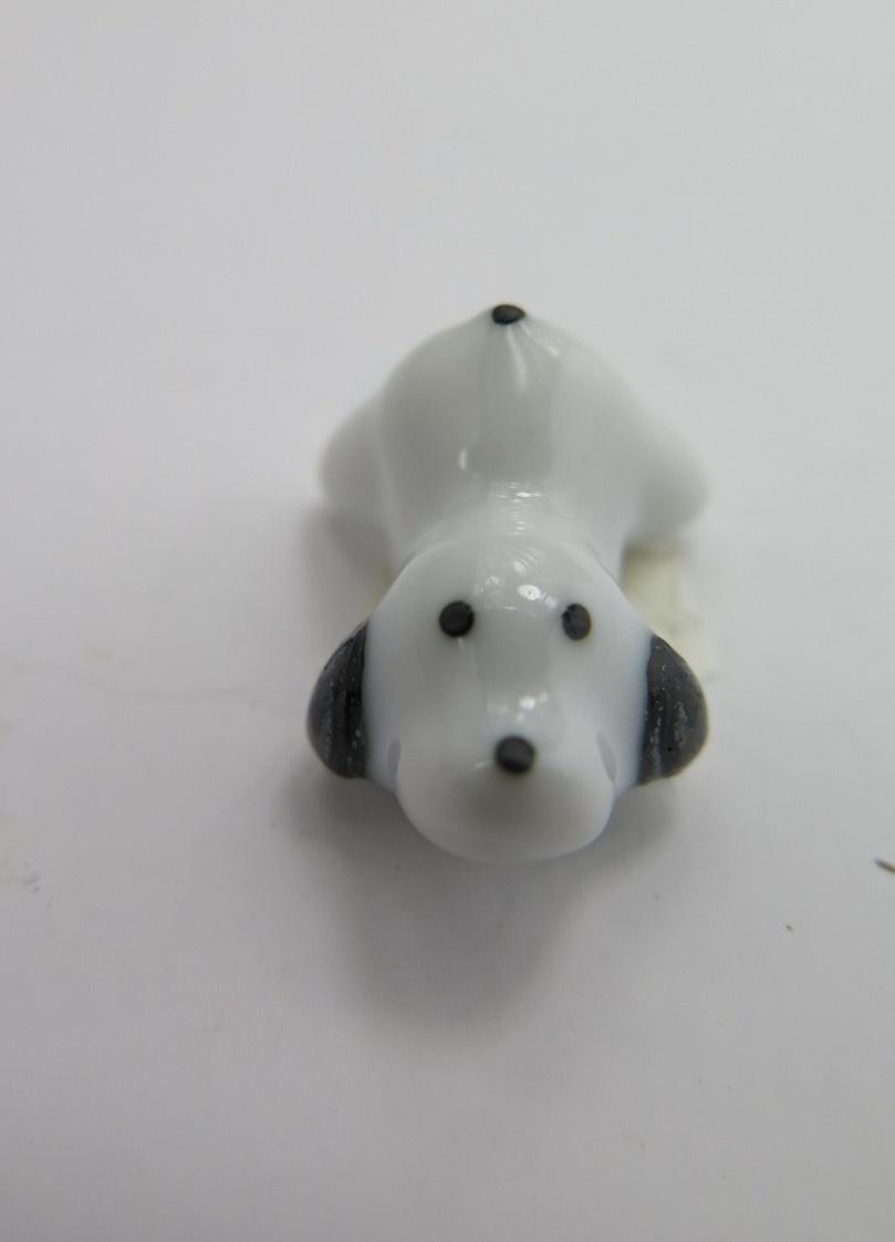**Miniatyr** Porslins hund