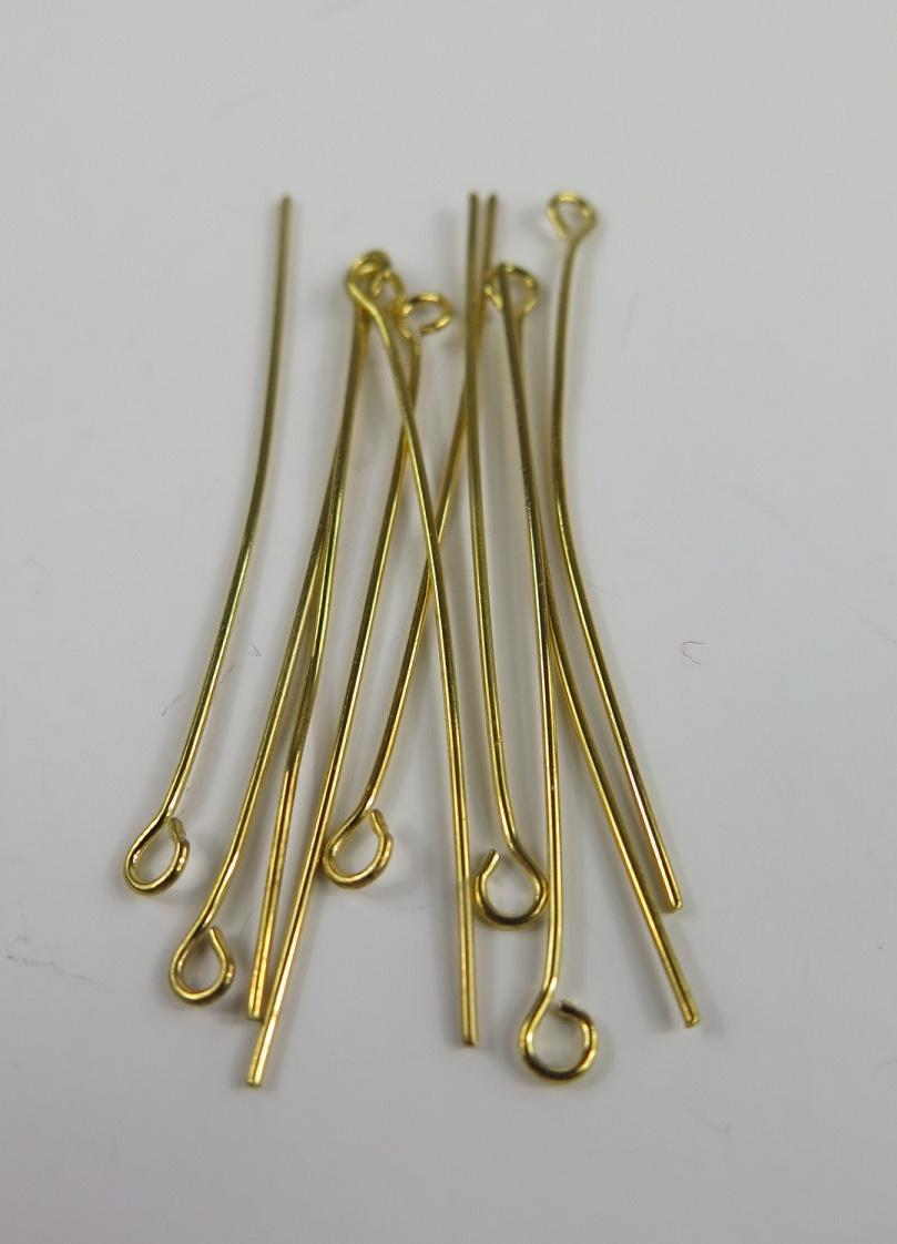 Metallstavar med ögla guld