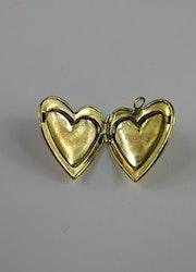 Medaljong hjärta guldfärgat
