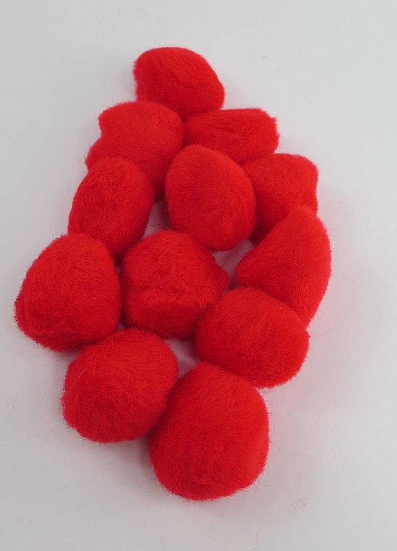 PomPoms röda 40mm
