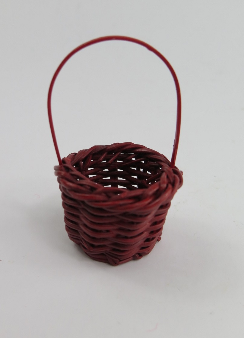 **Miniatyr** Röd korg