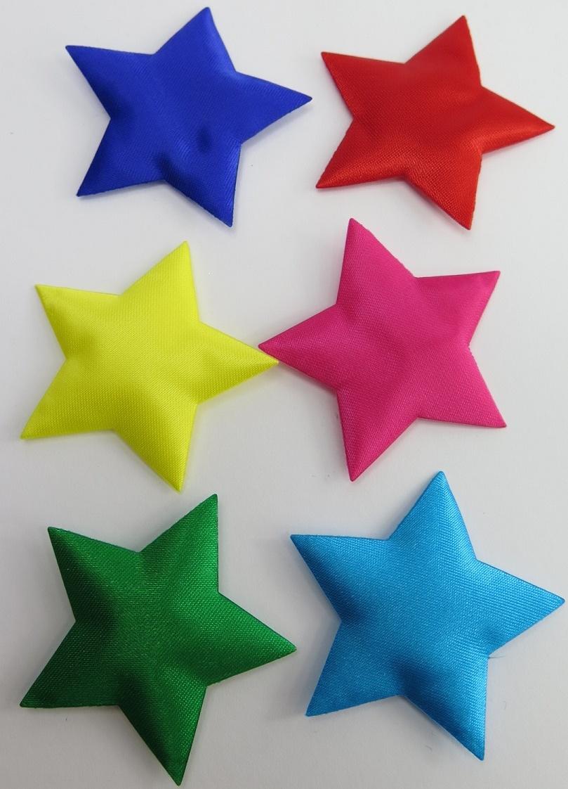 Satinmärken Stjärnor