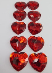 Rött akrylhjärta