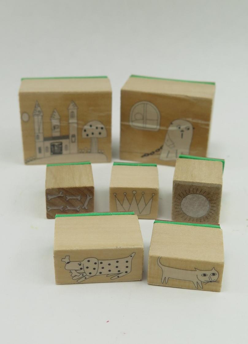 Labanstämplar trä/gummi