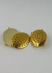 Brosch nålar guldfärgade