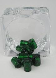 Glaspärlor avlånga Mörkgrön