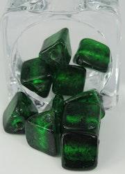 Glaspärlor trekantiga Mörk Grön